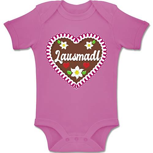 Shirtracer Oktoberfest Baby - Lausmadl Lebkuchenherz - 3-6 Monate - Pink - BZ10 - Baby Body Kurzarm Jungen Mädchen