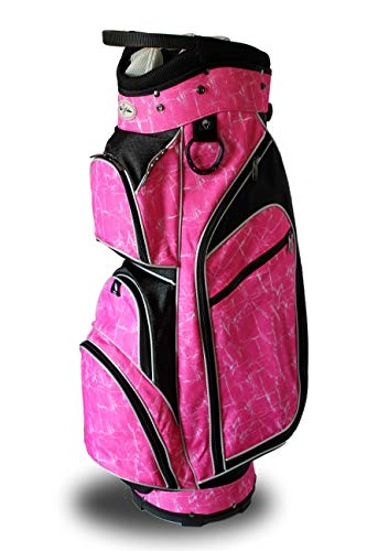 Taboo Fashions Monaco Premium Lightweight Ladies Golf Cart Bag (Pink Brushstrokes)