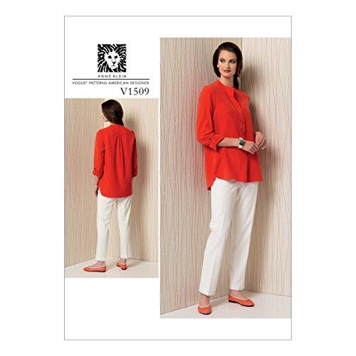 Vogue Patterns 1509E5 Vogue Schnittmuster 1509 E5, Tunika und Hose, für Damen, Größen 42-50, Mehrfarbig, (14-16-18-20-22)