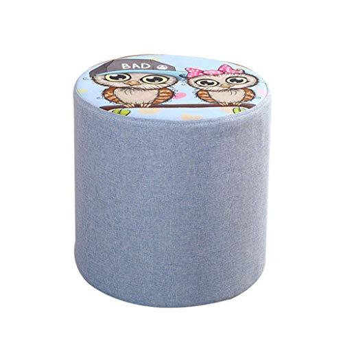 YLCJ zitzak, gestoffeerd, rond, modern, creatief, kruk, deken van linnen, afneembaar (grootte: 20 x 28 cm) 30 * 28cm