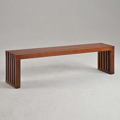 Pleasing Amazon Com Slat Bench 60 Inch Walnut Finish Is Perfect As Ibusinesslaw Wood Chair Design Ideas Ibusinesslaworg