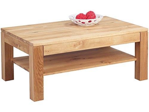 möbelando Couchtisch Massivholz Tisch Wohnzimmertisch Sofatisch Massiv Wildeiche Björn II
