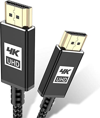AviBrex - Cable HDMI 4K (15 m, 4K a 60 Hz, 18 Gbps, cable HDMI 2,0, nailon, trenzado, conectores dorados con Ethernet y canal de retorno de...