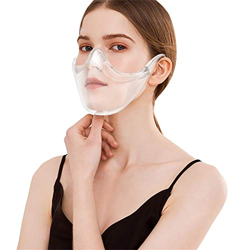Donasty Transparente Brillenstil Herren Damen Face Halstuch Wiederverwendbare Fashion Multifunktion