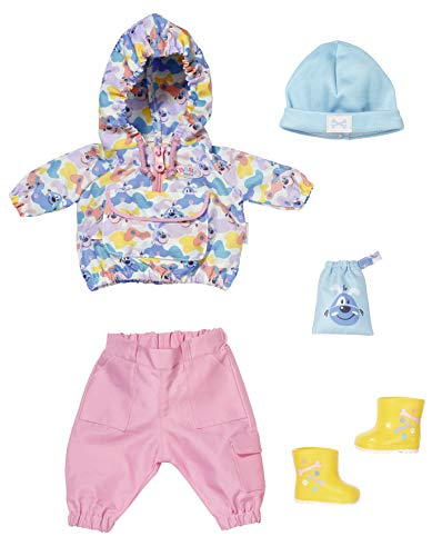 Zapf Creation 829905 BABY born Deluxe Gassi Geh Set Puppenkleidung 43 cm, 6-teilig