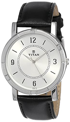 Titan Analog White Dial Men's Watch-NK1639SL03
