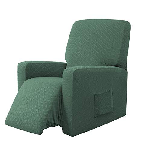 E EBETA Funda de Sillón Relax Elástica Completo Protector para Sillón Reclinable, Funda para sillón reclinable (Verde Oliva)