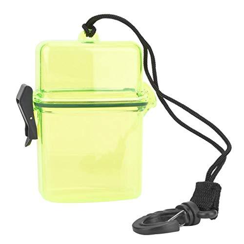 Caja de sellado ligera transparente con gancho de cuerda de plástico, para hacer surf en canoa, kayak(Transparent yellow)