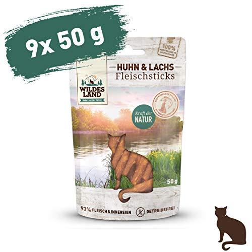 Wildes Land Fleischsticks Huhn & Lachs Snack 9 x 50 g