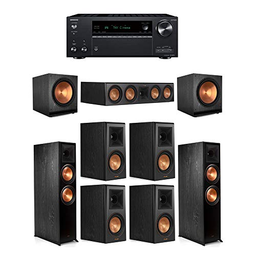 Amazing Deal Klipsch7.2.2 Ebony System - 2 RP-8060FA,1 RP-504C,4 RP-500M,2 SPL-150,1 TX-NR797 Rece...
