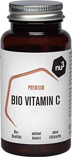 nu3 Premium Bio Vitamin C - 120 Kapseln aus natürlichen Acerola Extrakt - hohe Bioverfügbarkeit - hochdosiert mit Langzeitwirkung - ohne Füllstoffe & Gelatine - einfach in der Anwendung - Vegan