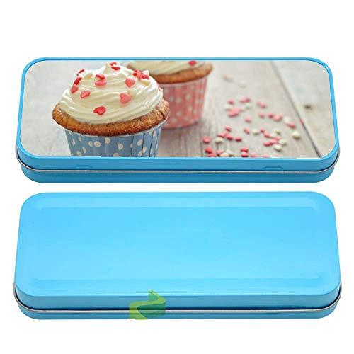Générique Boite à Crayon Les Cupcakes hummmm - Bleu