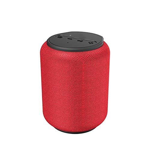 Yeyubh Bluetooth 5.0 Altavoz 15W IPX6 Impermeable Torre de Sonido portátil inalámbrico 24H reproducción al Aire Libre Tiempo Asistente de Voz Altavoz USB (Color : Red)