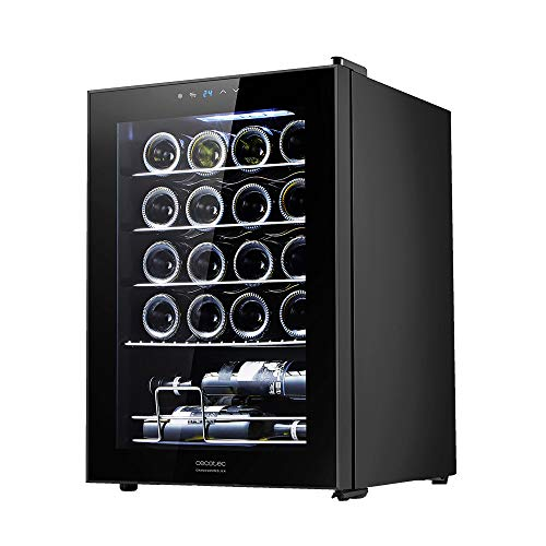 Cecotec Vinoteca GrandSommelier 20000 Black Compressor. 20 Botellas, Compresor, Alto Rendimiento garantizado, Temperatura Regulable, Clase de eficiencia energética A