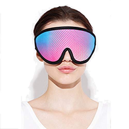 Maschera Elettrica Riscaldante per gli Occhi, Riscaldata Tramite USB, Copertura 3D, Terapeutica, Alleviare l'insonnia, la Secchezza Oculare, il mal di Testa, lo Stress, Occhi Gonfi Caldo,Multi colored