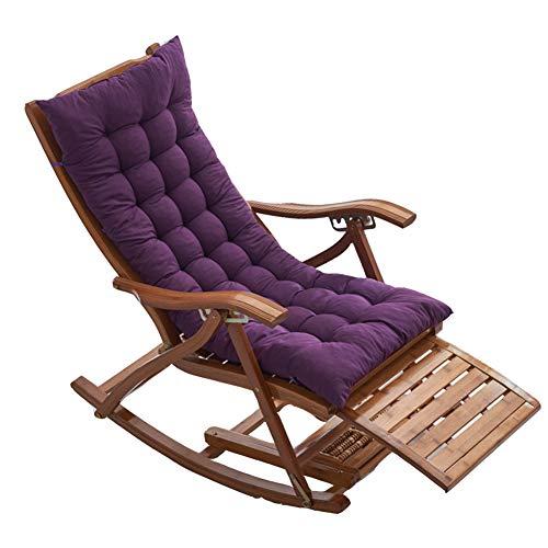 YINGLUO Cojín de madera para silla de jardín al aire libre, grueso cojín de banco largo con cuerda de corbata, alfombrilla antideslizante para tumbona, colchón de viaje lavable