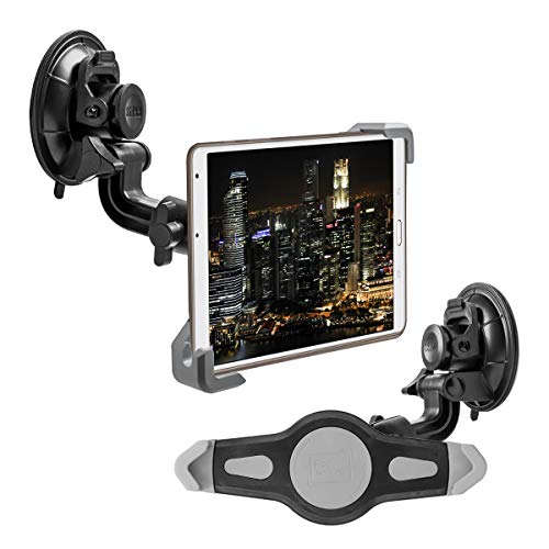 kwmobile Soporte de Coche para Tablet de 7-8' - Base Universal con Ventosa - Enganche en Negro