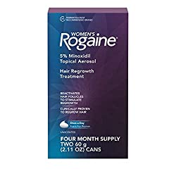 top rated Rogaine's women's foam containing 5% minoxidil prevents thinning and hair loss and is used for local treatment of women's hair. 2021