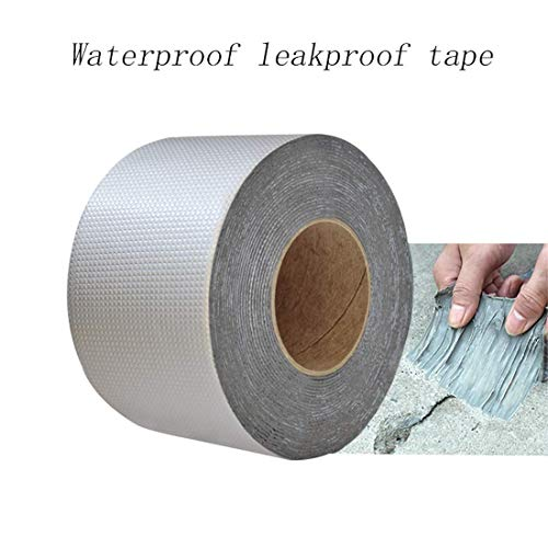 Professional Powerful Waterproof Repair Strong Aluminum Foil Butyl Rubber Sealing Tape for Roof Emergency Pipe Marine Repair (5cm * 10m)