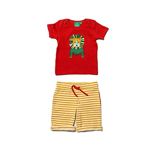 Little Green Radicals Leo Lion Appliqué Set 0-3 Month