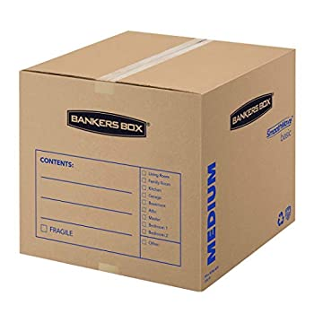 Bankers Box SmoothMove Basic Moving Boxes Medium 18 x 18 x 16 Inches 10 Pack  7713902
