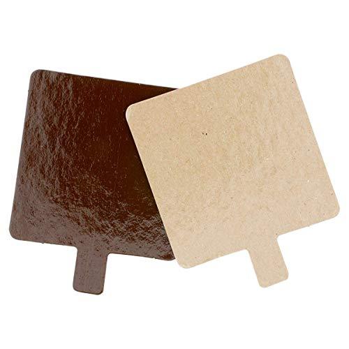 García de Pou 223.75 karton, dubbelzijdig, 1100 g/m2, 8 x 8 cm, chocoladebruin/bonbons, 200 stuks