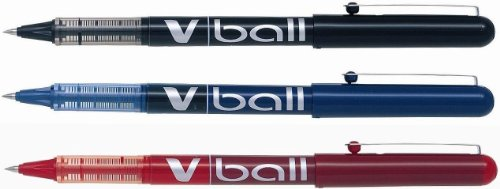 Pilot V-Ball - Rotulador, colores variados, 3 unidades