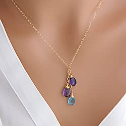 mother's day gift birthstone necklace