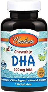 Carlson Carlson for Kids Chew. DHA Orange, 120 Softgels