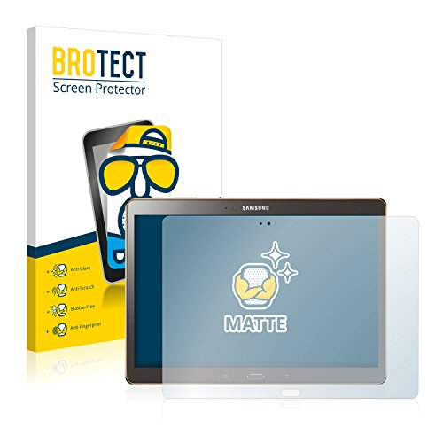 BROTECT 2X Entspiegelungs-Schutzfolie kompatibel mit Samsung Galaxy Tab S 10.5 SM-T800 Bildschirmschutz-Folie Matt, Anti-Reflex, Anti-Fingerprint
