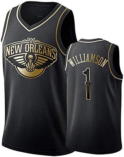 Herren Basketball Trikot New Orleans Pelikane Zion Williamson # 1 Herren Basketball Weste Spiel Training Trikot ärmelloses T-Shirt Mädchen Junge Geschenk Trikot-S-black
