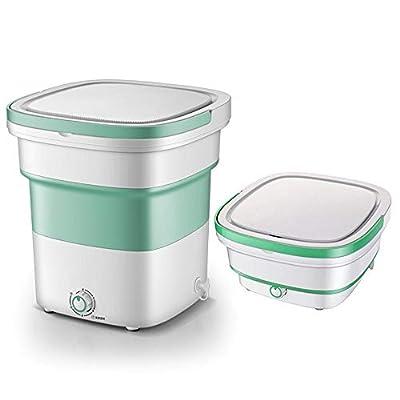 TQMB-A Mini Foldable Washing Machine, Portable Washing Machine - Ultrasonic Cleaning Machine, Small Automatic Portable Underwear Folding Washing Machine,Blue,Green