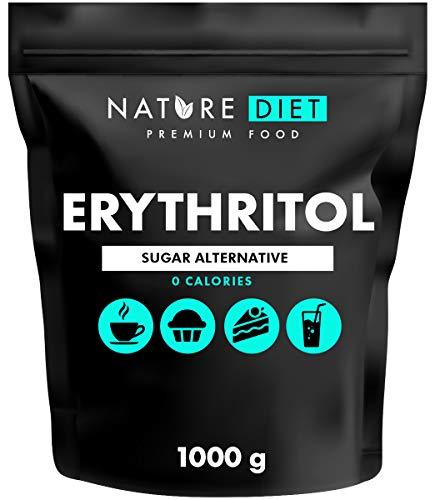 Nature Diet - Érythritol 2 x 1000 g | Édulcorant naturel | Zéro Calorie | Remplacement du sucre | Substitut du sucre