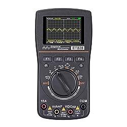 Oscilloscope Multimeter 2-in-1, Color Screen Intelligent Graphical Handheld Oscilloscope Multimeter 1MHz Bandwidth, 2.5Msps Sampling Rate, DC/AC Voltage/Current Test