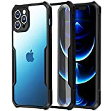 Xundd Case Compatible with iPhone 12 Pro 6.1 Inch(2020), 【Military Grade Drop Tested】 Shockproof Protective Slim Case -Black