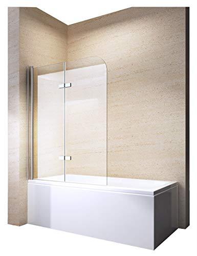 Bernstein Badshop Duschabtrennung Duschwand Spritzschutz Badewanne Nano Badewannenaufsatz Badewannenaufsatz EX209-120 x 140 cm