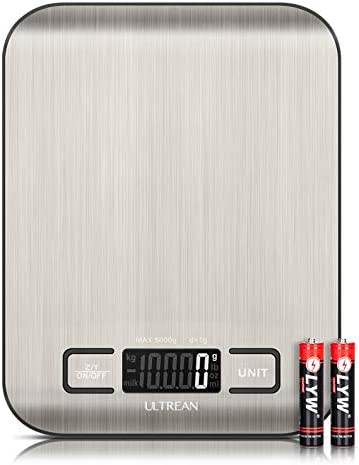 Ultrean Digital Food Scale High Precision Kitchen Scale Measures in Grams and Ounces for Cooking product image