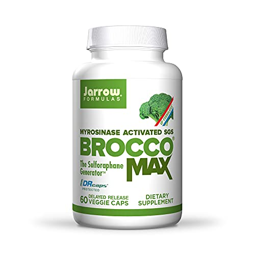 Jarrow Formulas BroccoMax, 20x More Concentrated Than Broccoli, Supports Healthy Cell Replication & Liver Health, White, 60 Count