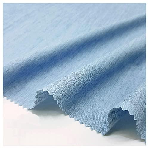stretch stoff Reiner Baumwoll-Denim, Sand-gewaschener Denim, Dünnes Hellblaues Himmelblau, Herstellung Von Kleidung, Hosen, Hemden, Röcken, DIY-Kleidungsdesign-Stoffen ((Size:1.5M*4M,Color:Himmelblau)