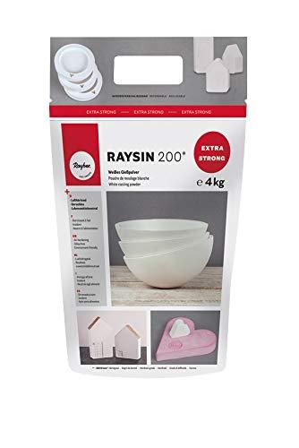 Rayher Polvere Colata Raysin 200, Busta 4Kg, Bianco, 32 x 26 x 13 cm, 3 Unità