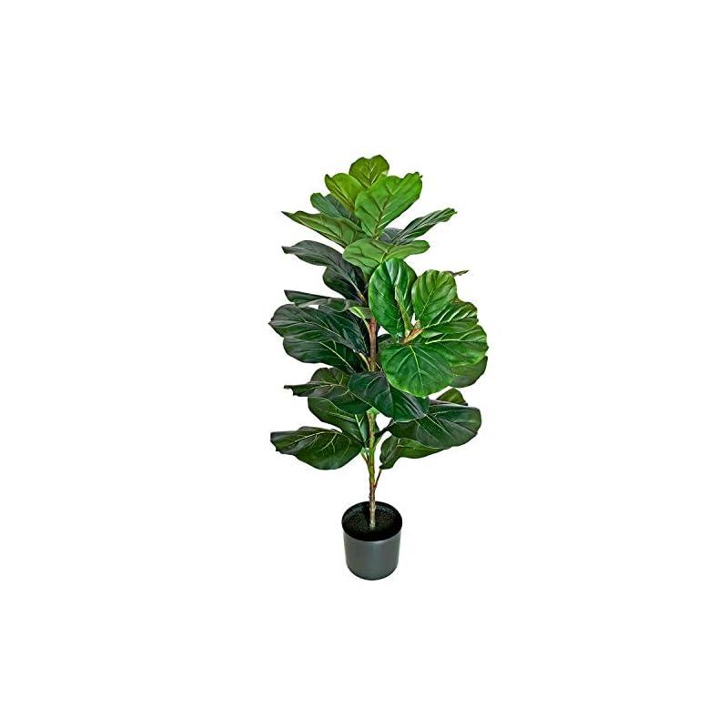 silk flower arrangements besamenature 40 inch artificial fiddle leaf fig tree/faux ficus lyrata for home office decoration