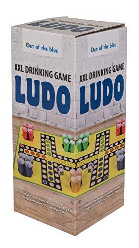 Out of the Blue 79/4022 - XXL-Trinkspiel Ludo, mit 16 Trinkbechern und Schaumwürfel, Becher für ca. 300 ml, Spielfläche ca. 90 x 90 cm, im Geschenkkarton