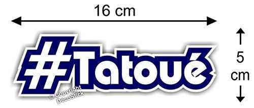 Sticker Hashtag #Tatoué - Autocollant Humour Cadeau