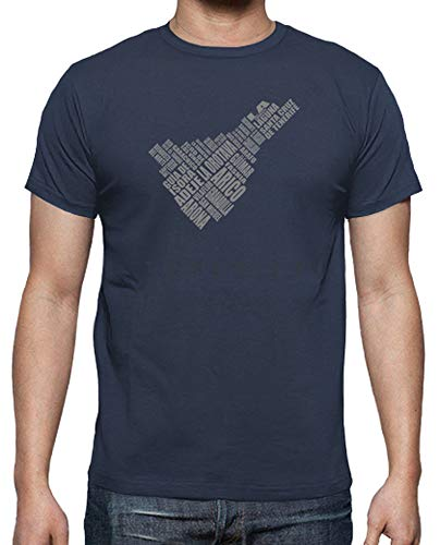 latostadora - Camiseta Tenerife - Blanco para Hombre Denim M