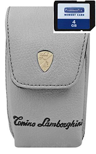 Cámara de Fotos Funda Lamborghini Piel Set con Tarjeta SD de 4GB...