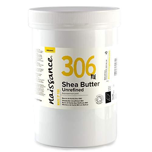 Naissance Beurre de Karité Brut BIO (n° 306) - 500g - 100% pur, non raffiné, naturel et certifié BIO - Malaxé à la main - végan - Approvisionnement éthique et durable au Ghana