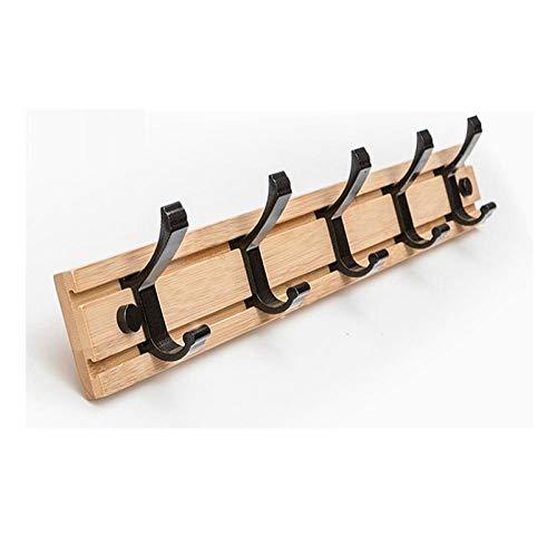 Espacio aluminio y bambú extraíble gancho negro moda simple montaje en pared gancho de gancho gancho de baño-C3 simple y elegante combina con el estilo moderno