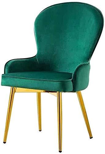 DEWUFAFA Stuhl Flanell Polster Make-up-Stuhl stapelbar Rückenlehne Konferenzstuhl Home Küchenstuhl Bürostuhl