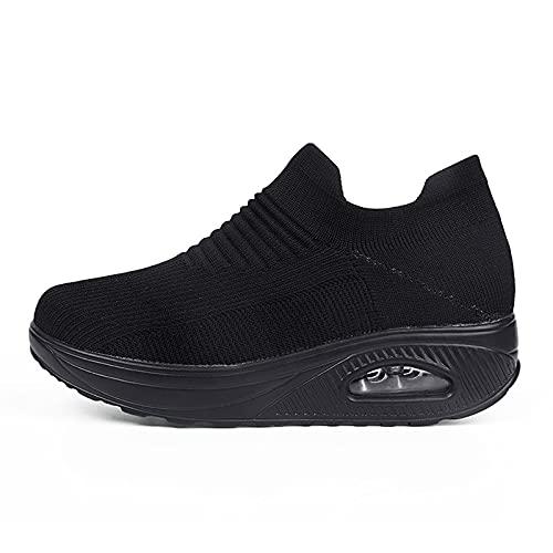 Haiorziyou Damen Laufschuhe Turnschuhe Sportschuhe Sneaker Running Tennis Schuhe Freizeit Straßenlaufschuhe rutschfest Leichtgewichts Schuhe Atmungsaktiv Walkingschuhe