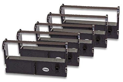 vhbw 5x Cinta de tinta de nailon para su impresora matricial Epson U110, U310, U311 como ERC-39, C43S015461, ERC-43.